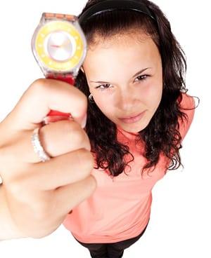 Kind met horloge