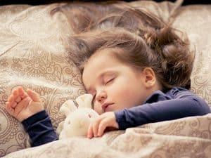 Kind slaapt comfortabel