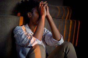 Vrouw met stress