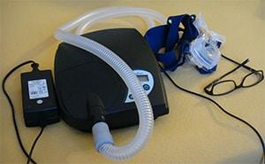 CPAP apparaat zonder stroom