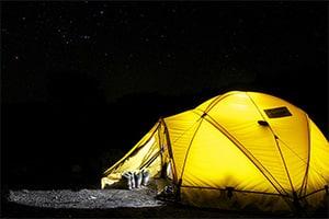 Slapen in een tent
