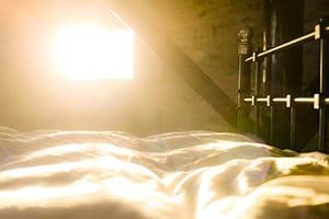 Zonlicht door het raam