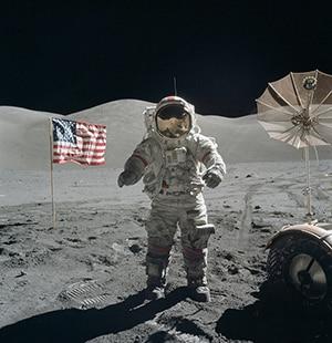 Astronaut op de maan