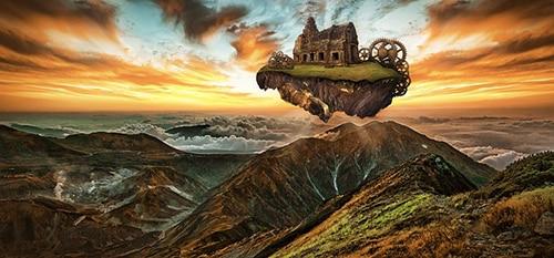 Fantasie eiland uit een droom