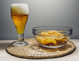 Snacks en bier