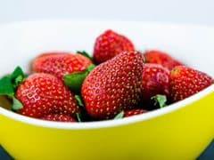 Aardbeien eten voor je gaat slapen?