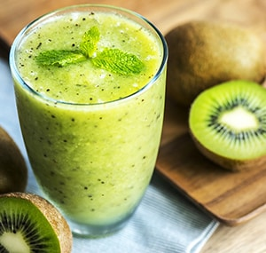 Kiwi in een smoothie