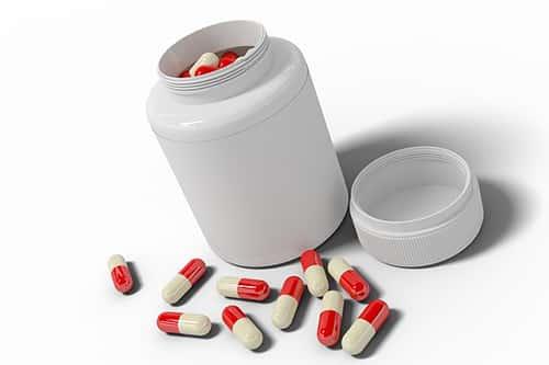 Barbituraten pot met pillen