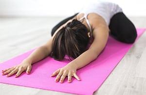 Slaap Yoga op een Yogamat