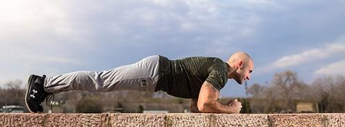 Planken tegen rugpijn