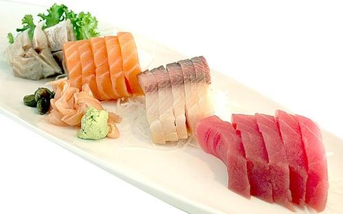 Verschillende vissoorten sushi