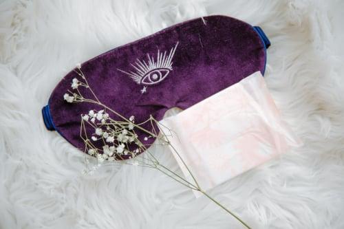 Slaapmasker van zijde zorgt voor een betere huid
